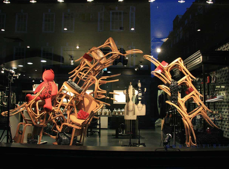 installation art window display agency London
