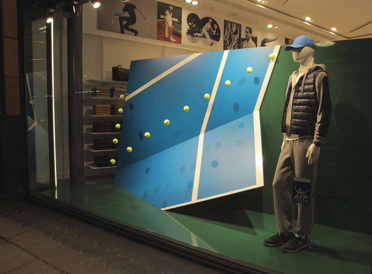 Lacoste ATP tennis window display