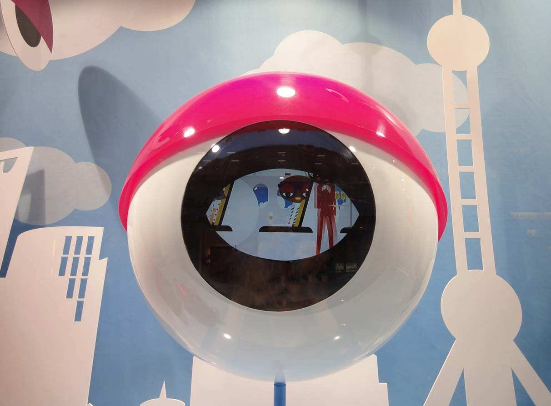 MCM window display Shanghai theme