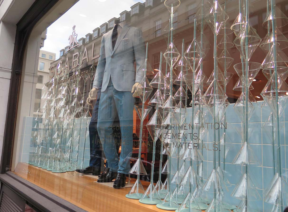 Scabal menswear window display London
