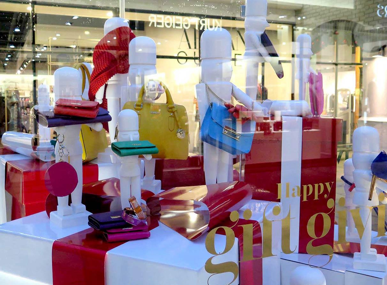 Christmas window display decorations company London