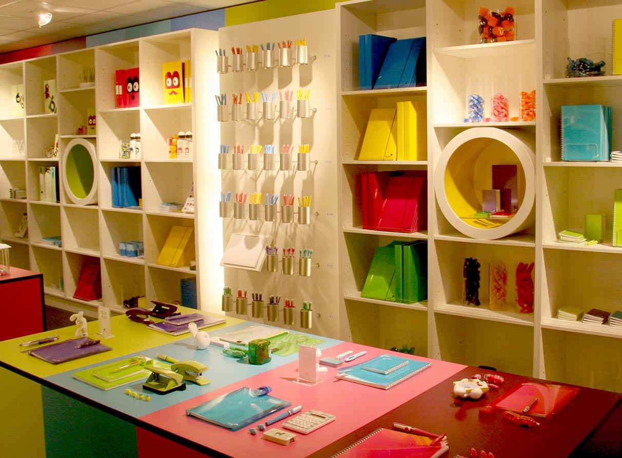 Stationery store visual merchandising company