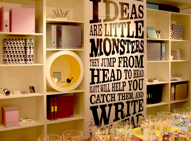 Stationery store visual merchandising