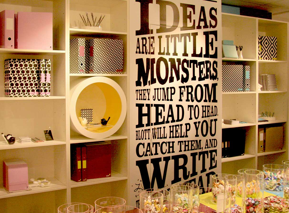 Stationery store visual merchandising