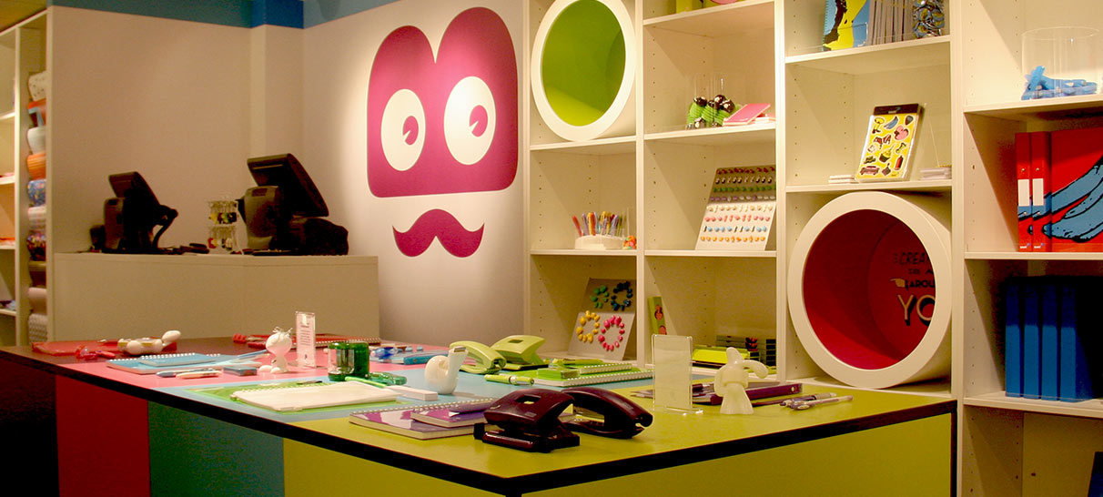 Stationery shop instore display