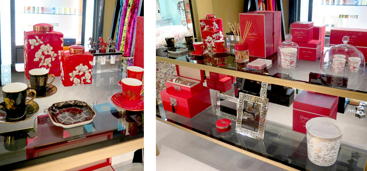Home accessories -instore-display-Shanghai-Tang-Harrods