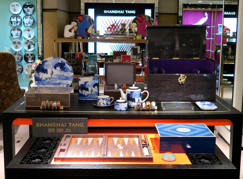Homeware-visual-merchandiser-Shanghai-Tang-Harrods Hair salon window display company London
