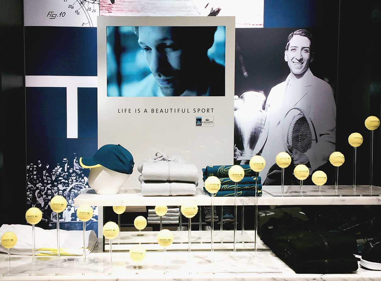 Shop interior displays agency London - Lacoste tennis