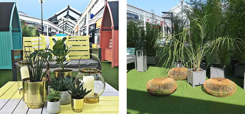 Pop Up summer lounge McArthurglen