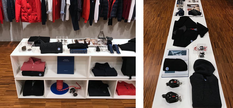 Menswear showroom visual merchaniser London