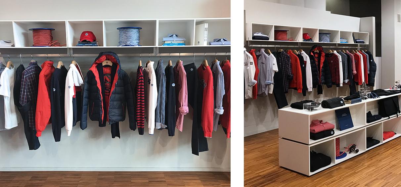 Menswear showroom visual merchandising agency London