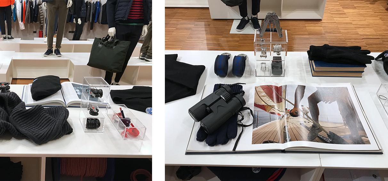 Menswear showroom visual merchanising company London
