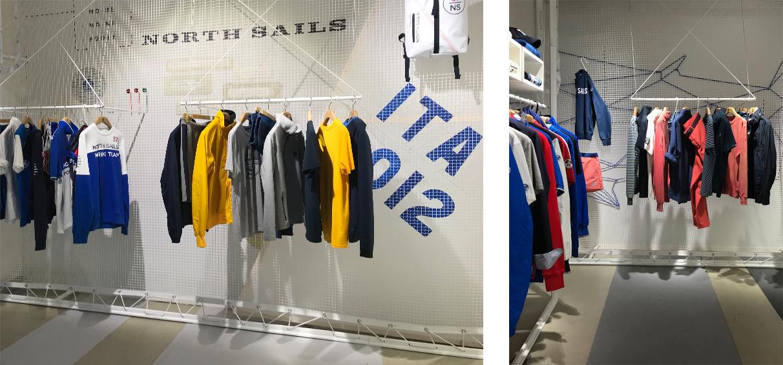North Sails Pitti Uomo Visual Merchandising