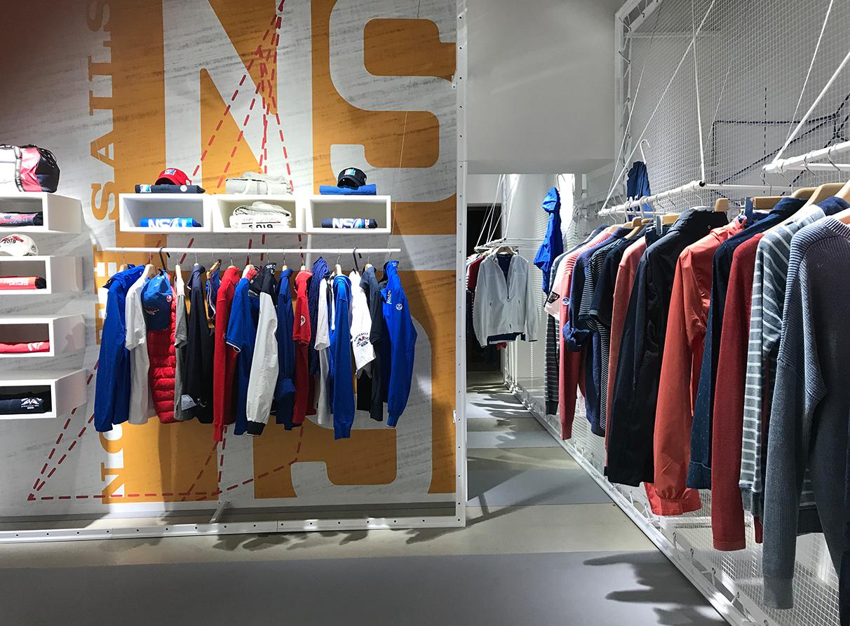 North Sails Pitti Uomo product Visual Merchandising