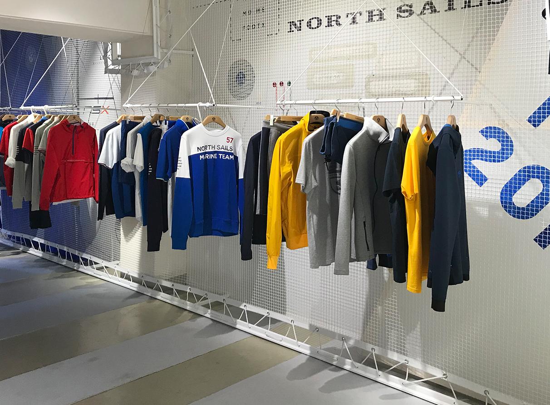 North Sails Pitti Menswear Visual Merchandising
