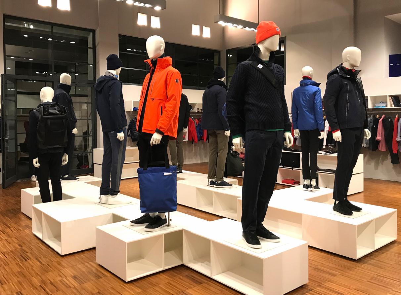North Sails Showroom visual merchandising Milan