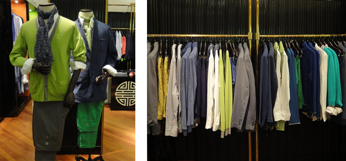 Menswear retail instore displays