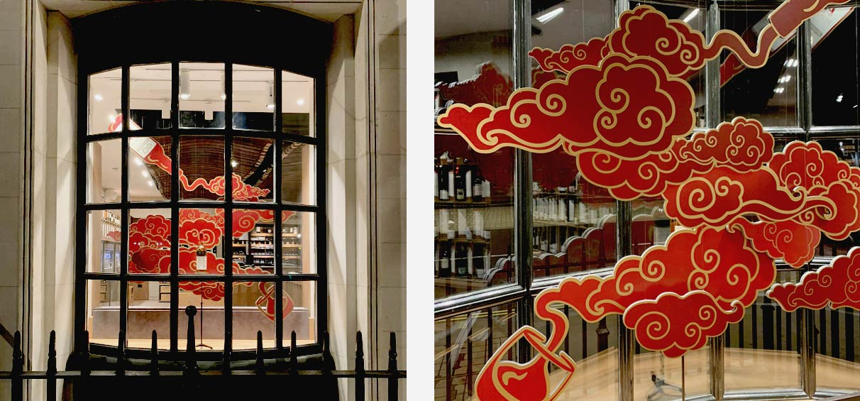 Chinese new year window display design company