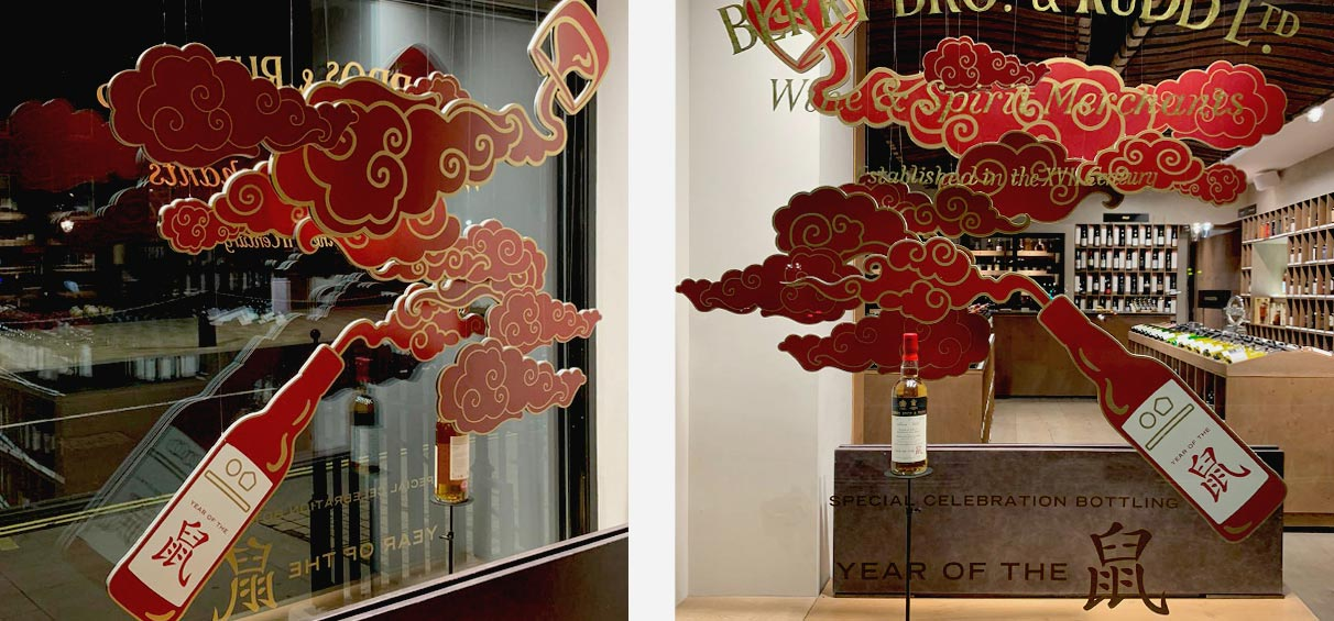 Chinese new year shop window display 2020