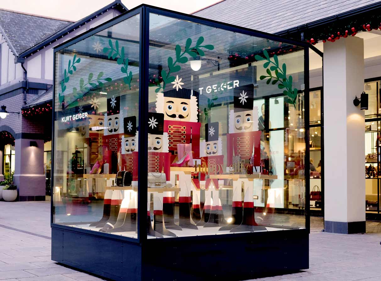 Christmas nutcrackers shop display agency London