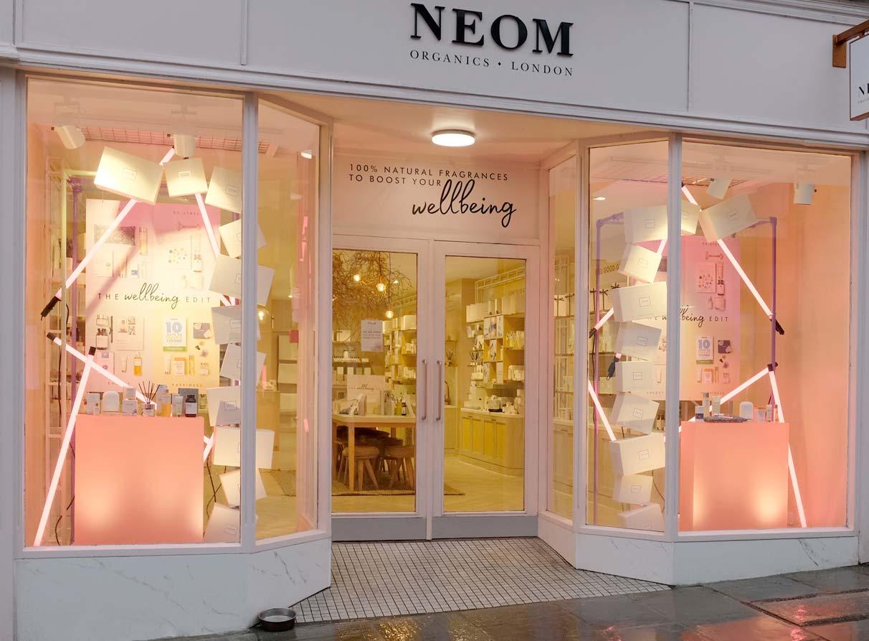 window display creative design company - Neom window Guildford
